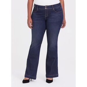 Torrid Flare Jeans Vintage Stretch Dark Wash